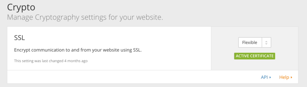 Cloud Flare ssl